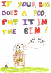 "Courtesy of DogsTrust: ""Scooper Hero"" poster competition winner"